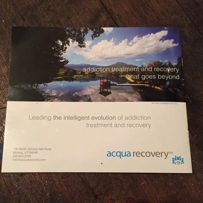 acqua recovery promotional brochure